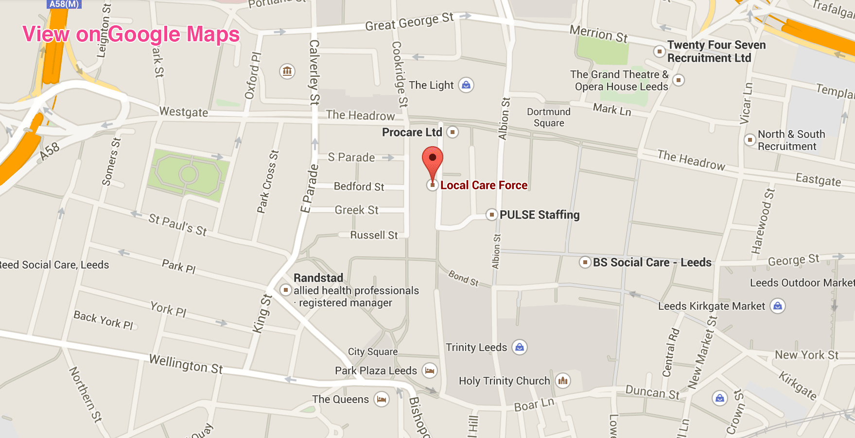 Map Leeds